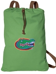 University of Florida Cotton Drawstring Bag Backpacks Cool Green