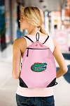 University of Florida Drawstring Bag Mesh and Microfiber Pink
