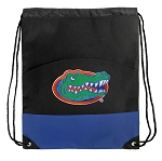 Florida Gators Drawstring Cinch Bags Blue