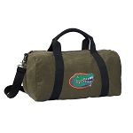 Florida Gators Duffel RICH COTTON Washed Finish Khaki
