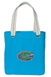 University of Florida Tote Bag RICH COTTON CANVAS Turquoise