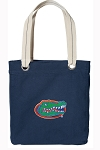 Florida Gators Tote Bag RICH COTTON CANVAS Navy