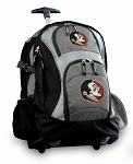 Florida State Rolling Backpack Black Gray