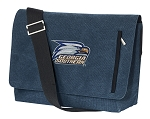 Georgia Southern Messenger Bags STYLISH WASHED COTTON CANVAS Blue