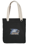 Georgia Southern Black Cotton Tote Bag