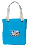 Georgia Southern Canvas Tote Bag Turquoise