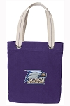 Georgia Southern Tote Bag RICH COTTON CANVAS Purple