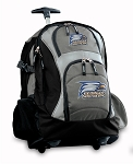 Georgia Southern Rolling Backpack Black Gray