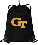 Georgia Tech Drawstring Backpack-MESH & MICROFIBER