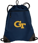 Georgia Tech Drawstring Backpack-MESH & MICROFIBER Navy