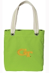 Georgia Tech Tote Bag RICH COTTON CANVAS Green