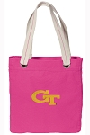 Georgia Tech Tote Bag RICH COTTON CANVAS Pink