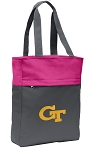 Georgia Tech Tote Bag Everyday Carryall Pink