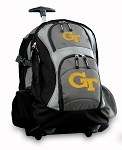 Georgia Tech Rolling Backpack Black Gray