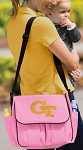 Georgia Tech Diaper Bag Pink