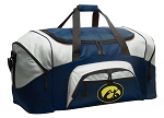 Large University of Iowa Duffle Iowa Hawkeyes Duffel Bags