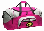 Ladies University of Iowa Duffel Bag or Gym Bag for Women