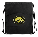 University of Iowa Drawstring Cinch Backpack Bag