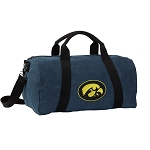 Iowa Hawkeyes Duffel RICH COTTON Washed Finish Blue
