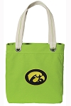 Iowa Hawkeyes Tote Bag RICH COTTON CANVAS Green