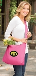 University of Iowa Hawkeyes Tote Bag Sling Style Pink
