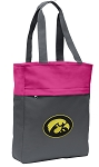 Iowa Hawkeyes Tote Bag Everyday Carryall Pink