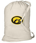 Iowa Hawkeyes Laundry Bag Natural