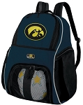 Iowa Hawkeyes SOCCER Backpack or VOLLEYBALL Bag