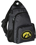 University of Iowa Backpack Cross Body Style Gray