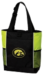 University of Iowa Tote Bag COOL LIME