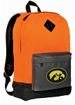 University of Iowa Backpack Classic Style Cool Orange