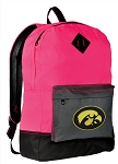 University of Iowa Backpack Classic Style HOT PINK