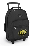 University of Iowa Rolling Backpacks Black