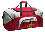 ISU Cyclones Duffle Bag or Iowa State Gym Bags Red