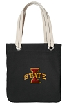 Iowa State Tote Bag RICH COTTON CANVAS Black