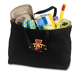 Iowa State Jumbo Tote Bag Black