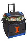 University of Illinois Rolling Cooler Bag Blue