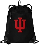 IU Indiana University Drawstring Backpack-MESH & MICROFIBER