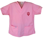 IU Indiana University Pink Scrubs Tops SHIRT