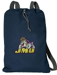 JMU Cotton Drawstring Bag Backpacks Cool Navy