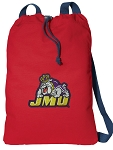 James Madison Cotton Drawstring Bag Backpacks Cool RED