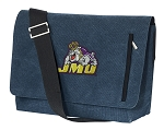 JMU Messenger Bags STYLISH WASHED COTTON CANVAS Blue