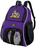 JMU Soccer Ball Backpack Bag Purple