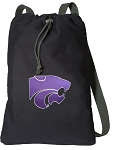 K-State Cotton Drawstring Bag Backpacks