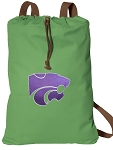 Kansas State Cotton Drawstring Bag Backpacks Cool Green