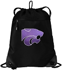 K-State Drawstring Backpack-MESH & MICROFIBER