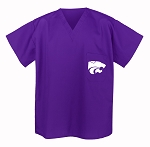 Kansas State University Scrubs Top Shirt-