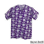 Kansas State University Scrubs Top Shirt