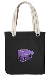 K-State Tote Bag RICH COTTON CANVAS Black