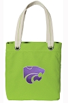 Kansas State Tote Bag RICH COTTON CANVAS Green